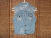 Damen Jeans Weste 36 Blau