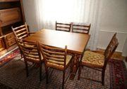 Esszimmer Garnitur Tisch und Stühle
