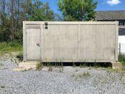 Doppelter Bürocontainer Wohncontainer mit Rollläden