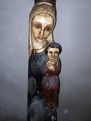 Große Madonna mit Kind handgeschnitzt