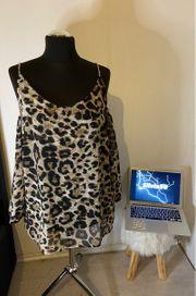 Leoparden Amisu Bluse Größe XL