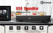 EIVOTOR PC Lautsprecher Computer Soundbar