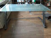 Schreibtisch Computertisch Arbeitstisch mit Glasplatte