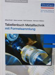 Christiani Tabellenbuch Metalltechnik mit Formelsammlung