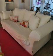 Sofa Helle stoff Bezug Kissen