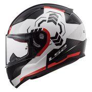 Helm LS2 GHOST schwarz-weiß-rot XS