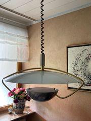 Designer Esstisch-Lampe aus gold silber-farbigen