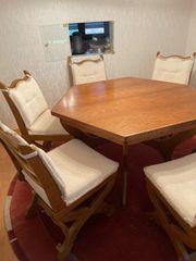Esstisch Esszimmertisch mit 6 Stühlen