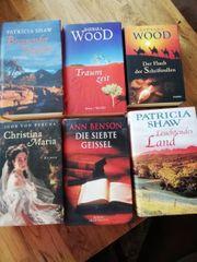 6 gebundene Roman Bücher zu