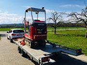 Baumaschienenanhänger Motorradanhänger usw zu vermieten