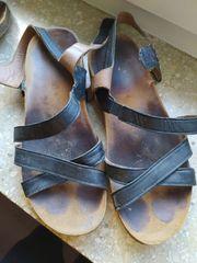 Sandalen 41 schwarz Schuhe getragen
