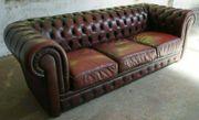 Chesterfield -Ledersofa - 3-Sitzer -Vintage