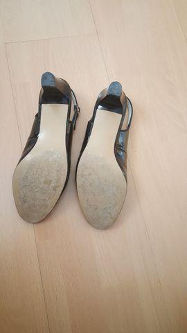 Bild 4 - Sandalette schwarz Sandale Halbschuh - Schwabach