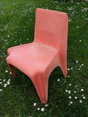 Bofinger-Stühle orig 2 orange Gebrauchs-Spuren