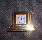Messing-Miniatur- Quarzuhr
