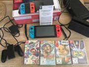 Nintendo Switch Konsole 4 Spiele