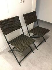 2 Gartenstühle oder Balkon