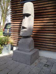 Gartenfigur Buddha Moai Stein Osterinseln