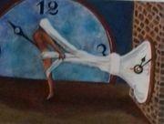 Bild mit Uhrwerk 25x30