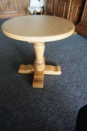 Tisch rund schwer Massiv Vollholz
