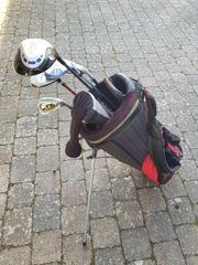 Golftasche Standbag und 4 Schläger