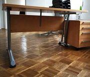 moderner Schreibtisch Buche mit Metallbeinen