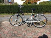 2 E-Bikes Damenfahrräder 28 Zoll