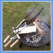 Steckerlfisch grillen mit Feuerschale Fischhalter