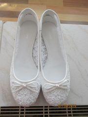 weiße damen ballerina gr 40