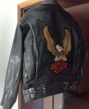 Lederjacke Vintage Harley Davidson ungetragen