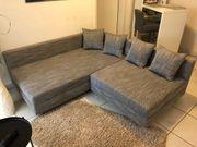 Graues Eck-Sofa zu verkaufen