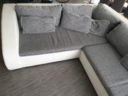 Couch weiß grau Schlafcouch Ecksofa