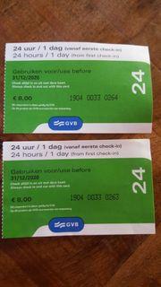 2 Tages Fahrkarten für Amsterdam