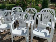 Garten-Set 6 x Monoblock Stühle