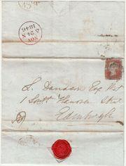 Siegelbrief England mit Red Penny