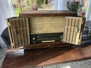 Antiker Nostalgie Radio-Schrank Siemens
