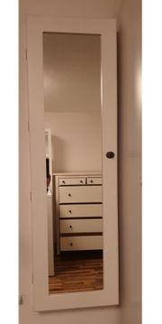 Wand- Schmuckschrank weiß mit Spiegel