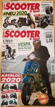 Motorroller-Zeitschrift Scooter und Sport