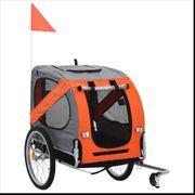 Hunde-Fahrradanhänger Orange und Grau