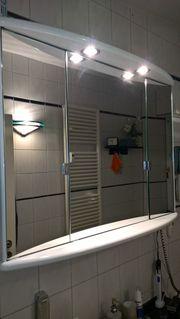 Spiegelschrank Unterschrank Wandregal Wandleuchte