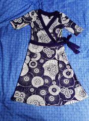 Wickelkleid Kleid 36 S Retro