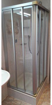 Duschabtrennung Echtglas Eckeinstieg Schiebetüre 90