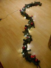 Weihnachtsdeko Weihnachtsgirlande mit LED-Beleuchtung