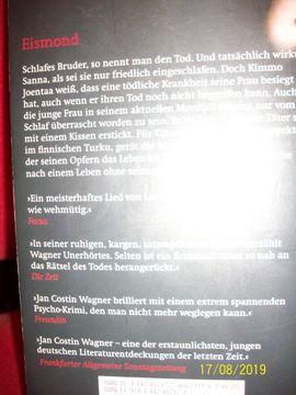 EISMOND v Jan Costin Wagner: Kleinanzeigen aus Blankenfelde - Rubrik Allgemeine Literatur und Romane