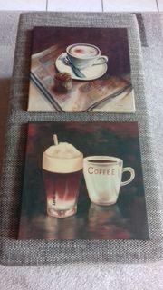Cafe Keilrahmenbild 35x35 cm
