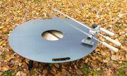 Steckerlfisch grillen Grillplatte-Spießhalter-Fischgrillhalter
