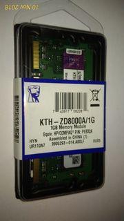 2x 1 GB DDR3 Notebookarbeitsspeicher -