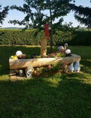holzmöbel Gartenmöbel holzbank holztisch Brunnentröge