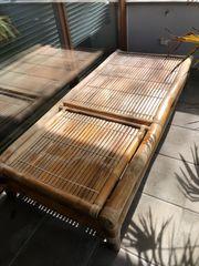 Gartenliege Bambus