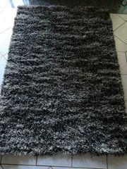 Teppich schwarz grau weiß von